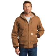 Carhartt Thermal Lined Duck Active Jacket CTJ131 Brown Front Man