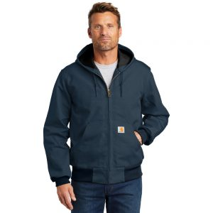 Carhartt Thermal Lined Duck Active Jacket CTJ131 Dark Navy Man Front
