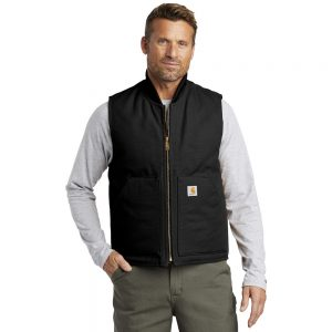 Carhartt Duck Vest CTV01 Black Man Front