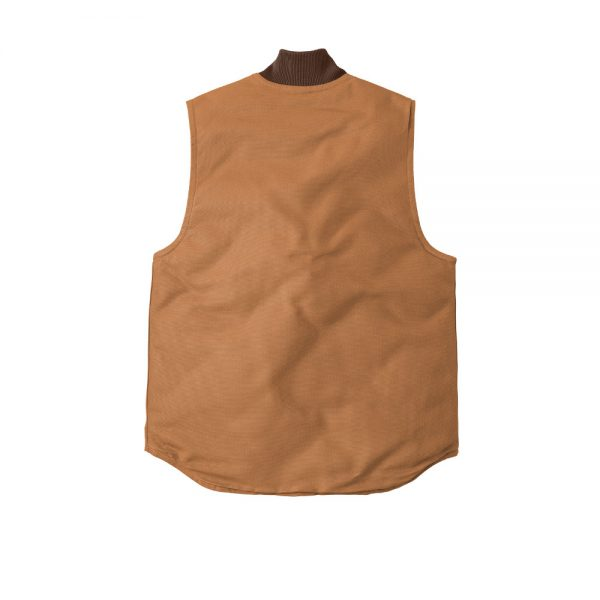 Carhartt Duck Vest CTV01 Brown Back