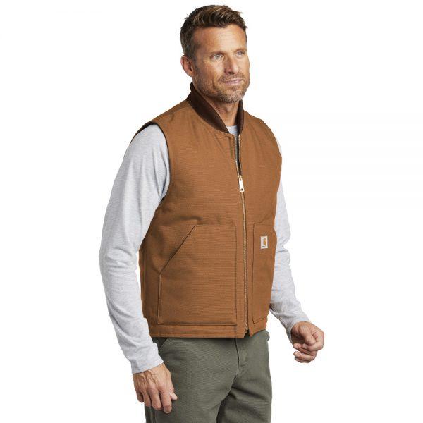 Carhartt Duck Vest CTV01 Brown Man Angle