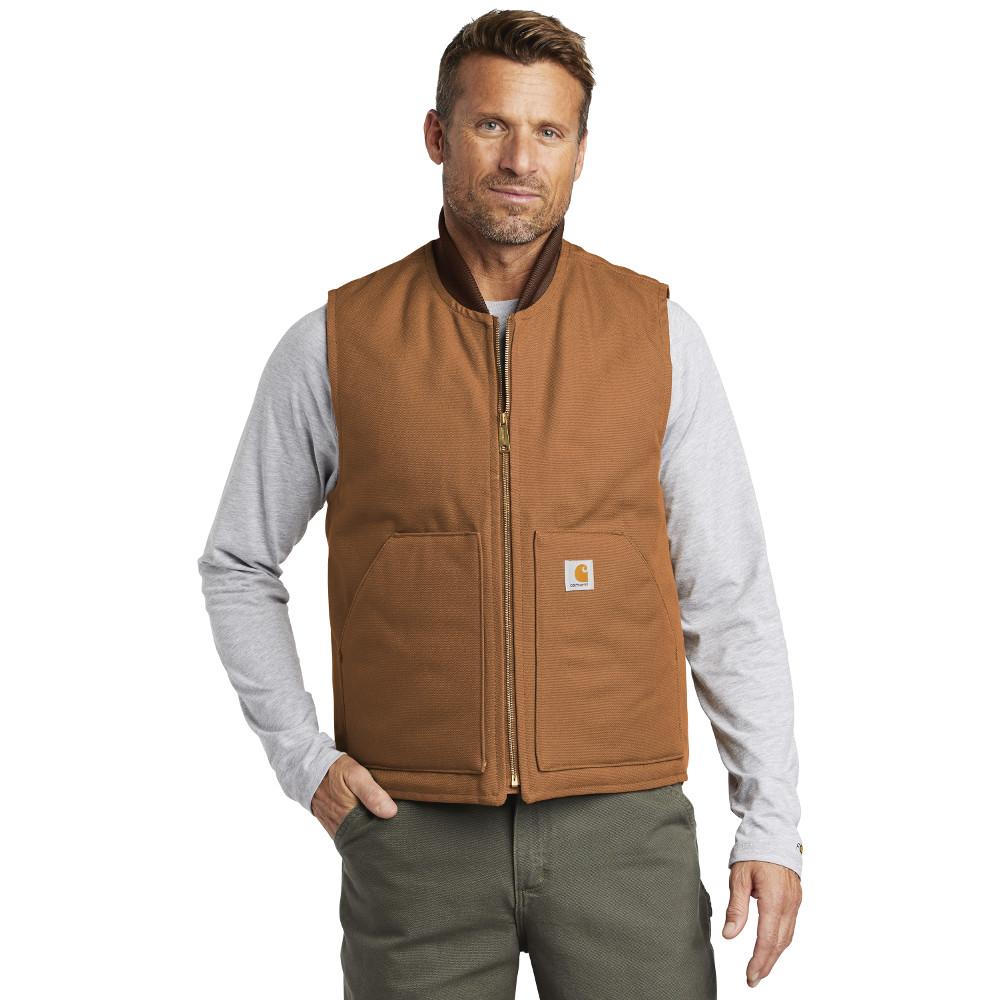 Carhartt Duck Vest CTV01 Brown Man Front