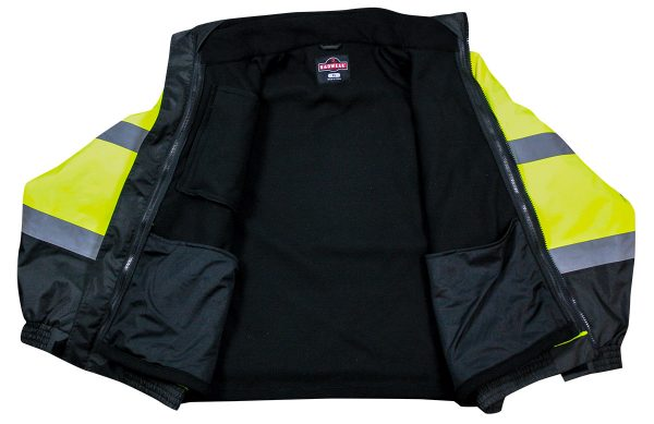 Radians SJ210B-3ZGS 3-in-1 Bomber Style Jacket Together Open