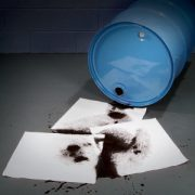 SpillTech WP100H Oil-Only Sorbent Pad Spill Example