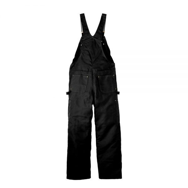 Carhartt Black CTR41 Overalls with Bib Back