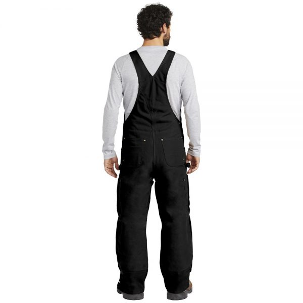 Carhartt Black CTR41 Overalls with Bib Man Back
