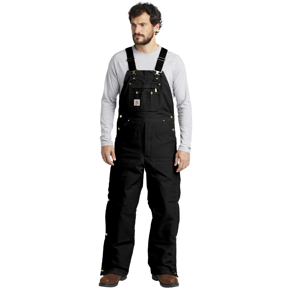 Carhartt Black CTR41 Overalls with Bib