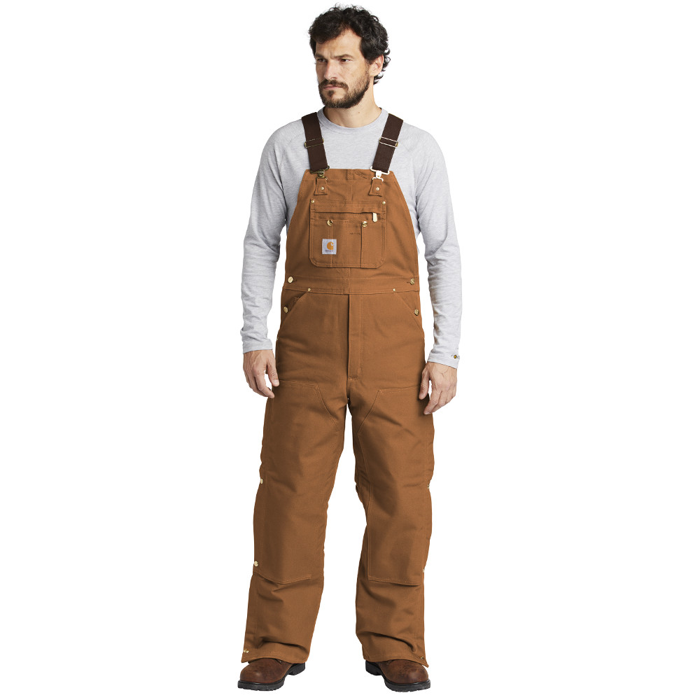Carhartt Brown CTR41 Overalls with Bib