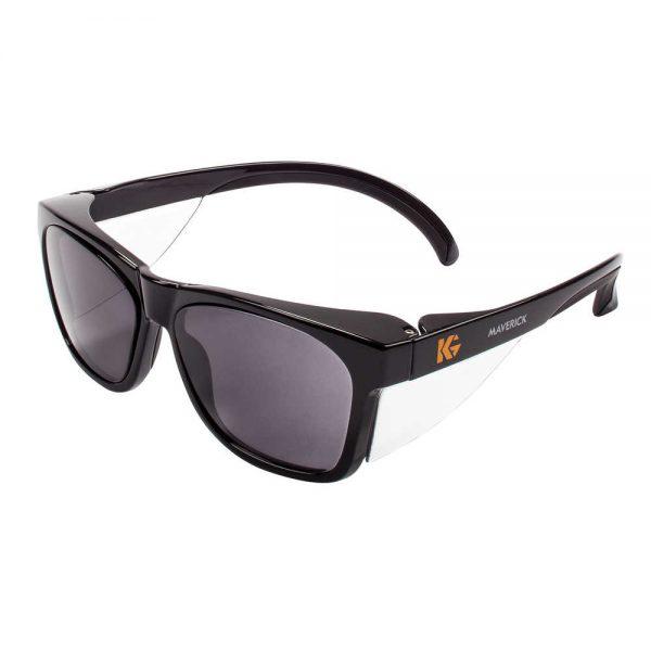 Kimberly-Clark KleenGuard Maverick safety glasses smoke lens black frame