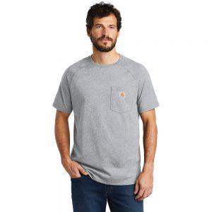 Carhartt Force Cotton Delmont Short Sleeve T-Shirt CT100410 Heather Gray