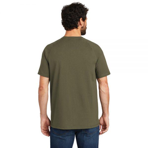 Carhartt Force Cotton Delmont Short Sleeve T-Shirt CT100410 Moss Man Back