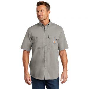 Carhartt Force Ridgefield Solid Short Sleeve Shirt CT102417 Asphalt