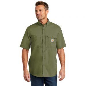 Carhartt Force Ridgefield Solid Short Sleeve Shirt CT102417 Burn Olive