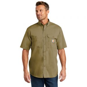 Carhartt Force Ridgefield Solid Short Sleeve Shirt CT102417 Dark Khaki