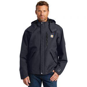 Carhartt CTJ162 Navy Shoreline Jacket Front Man