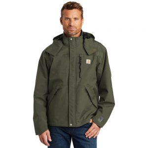 Carhartt CTJ162 Olive Shoreline Jacket Man Front