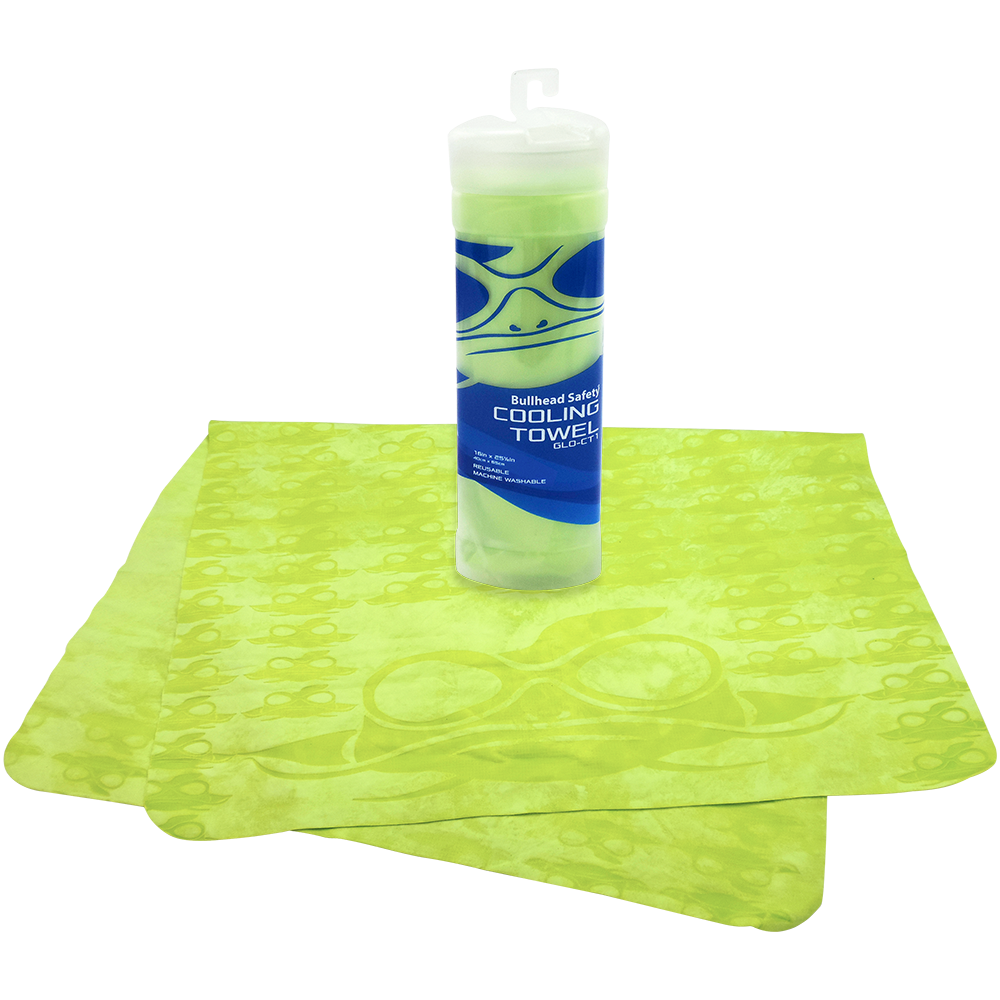 Global Glove Bullhead Safety Cooling Towel Yellow
