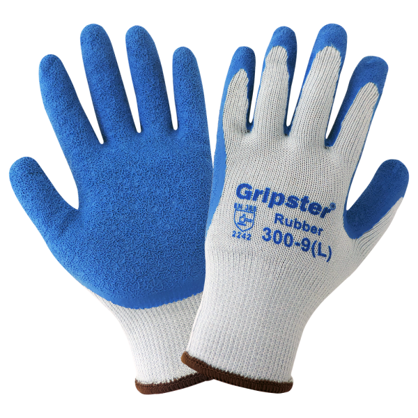 Global Glove 300 Gripster Blue Rubber