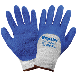 Global Glove 330 Blue Rubber Coated
