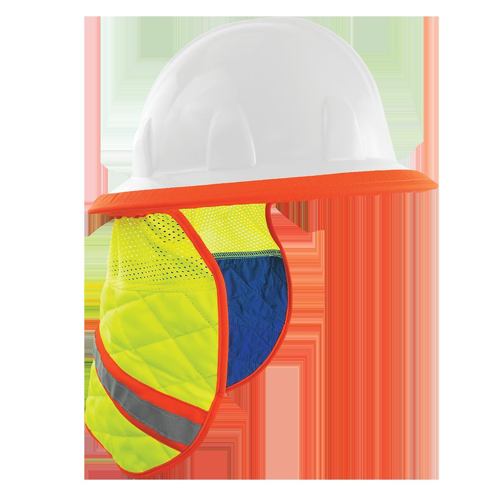 Global High Vis Cooling Neck Shade for Hard Hats