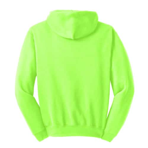 Sanmar Jerzees 996M Pull over Hoodie Safety Green Back