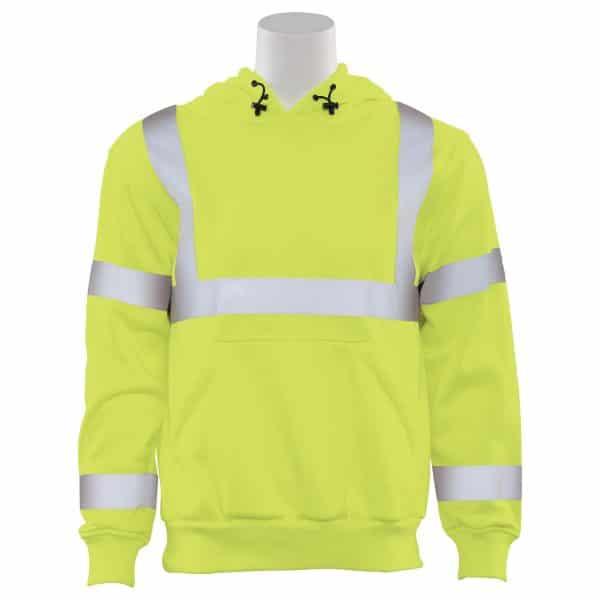 ERB Hooded Sweatshirt Hi Vis 61542