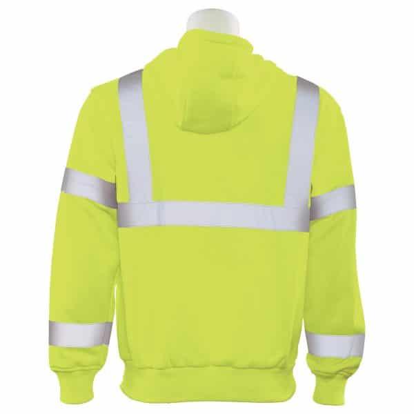ERB Hooded Sweatshirt Hi Vis 61542 Back
