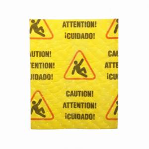 SpillTech Caution Mat Pads Universal Absorbent